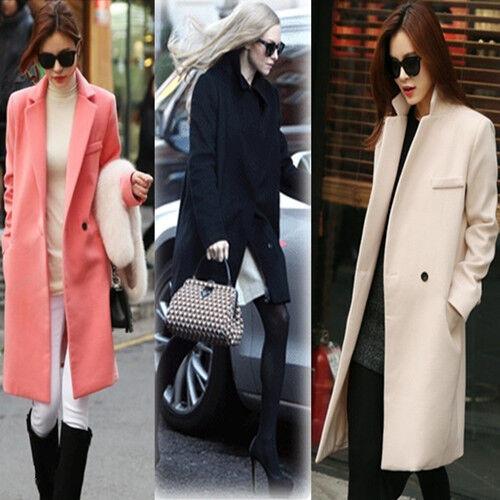New Winter Winter Winter Warm Faux Cashmere Women Long Coat Lady Wool Suit Parka Outwear Coat 0da84d