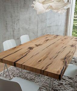Tavolo soggiorno rovere antico pr denis 200x100 cm basamento metallo design ebay - Tavolo per 10 persone ...