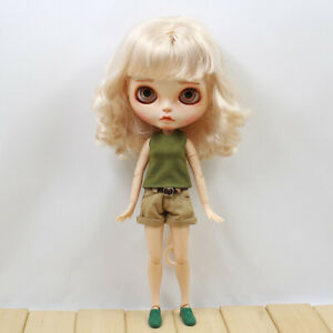 """12/"""" Dolls Clothes Leather Jacket Shorts Vest for Blythe Takara Licca Outfit"""