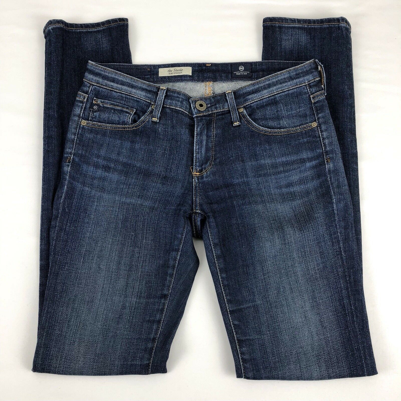 AG Adriano goldschmied Womens Stevie Slim Straight Low Rise Jeans - Size 26 R