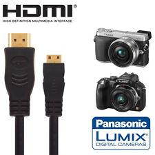Panasonic Lumix  G5, G6, GX7, G3 & GF6 Camera HDMI Mini TV Monitor 2.5m Cable