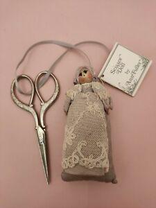 Vintage Lavender Scissor Doll Pin Cushion Ann Fuller | eBay