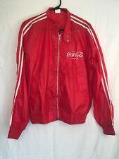 RARE! Vintage Coca Cola Jacket Jogging Track Windbreaker Coat Thriller Red M Med