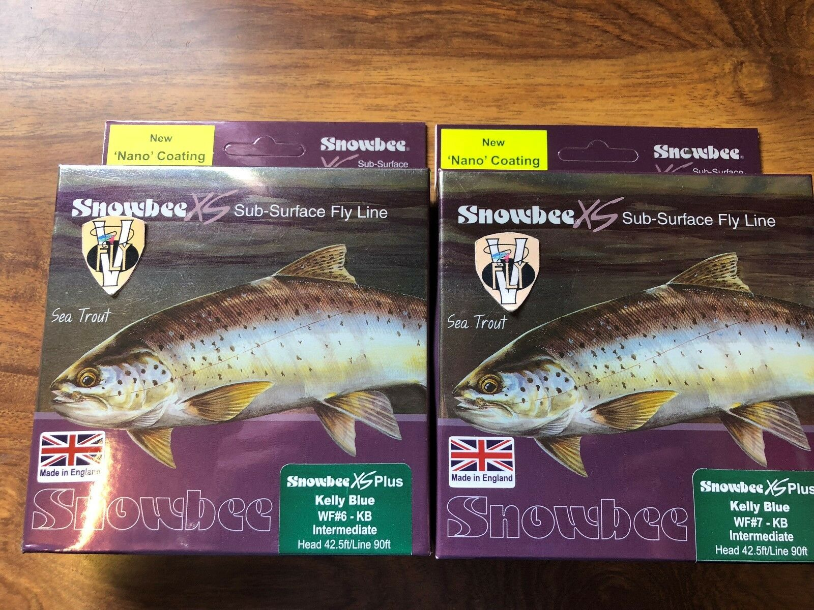 New Snowbee XS Nano Kelly bluee Green Intermediate Trout  Fly Line WF 5 to 8  get the latest