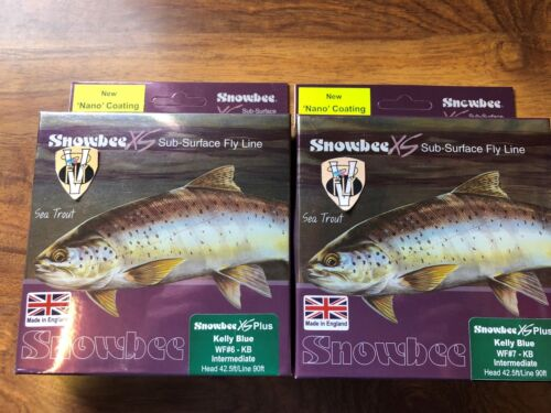 New Snowbee XS Nano Kelly Blue//Green Intermediate Trout Fly Line WF 5 to 8