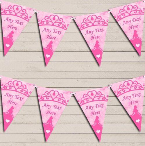 Hot Pink Princess Children/'s Birthday Bunting Garland Party Banner