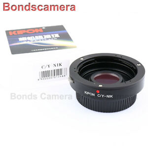 Kipon Contax Yashica C/Y mount lens to Nikon F Adapter for D4 D800 D5100 D7000