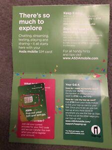 Asda Mobile Payg Triple 3 In 1 Sim Card 8p Calls 4p Text 5p Mb Data Ebay
