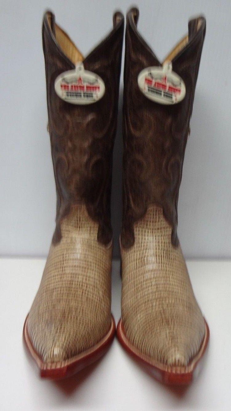 Para HOMBRES LAGARTO TEJU exótica Western botas De Vaquero C152