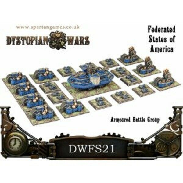 Dystopian Wars: Federated States of America Armoured Battle Group - DWFS21