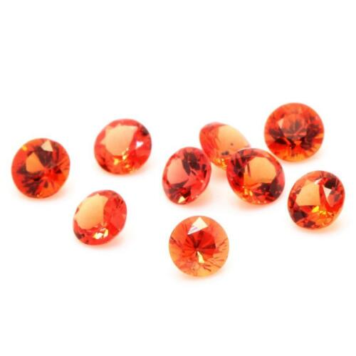 If-Vvs1 Rond. Orange-Saphir Einzelverkauf Sri Lanka Ceylon