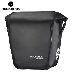 RockBros Bike Rear Carrier Bag Waterproof Carbon Leather Rear Pack Trunk Pannier