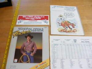 Nfr Calendar.Details About 1985 National Finals Rodeo Program Book Nfr Dee Pickett W Scorecard Las Vegas
