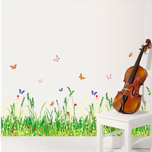 Butterfly Flower Fence Removable Wall Coner Floor Stickers for ...