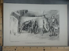 Rare Antique Orig VTG His House Was Known To All Vagrant Train Art Print