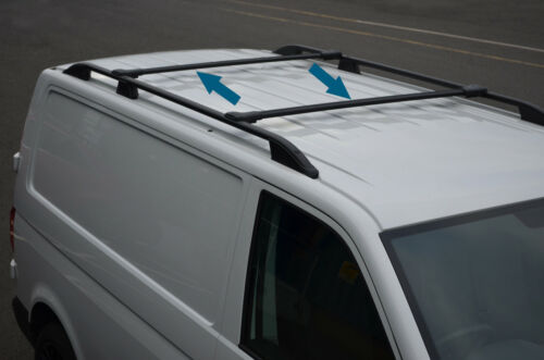 Black Cross Bar Rail Set To Fit Roof Side Bars To Fit Peugeot Bipper 2008+