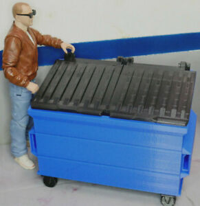 1-10-Scale-Dumpster-Action-Figure-Garage-Crawler-Doll-House-Diorama-Accessories
