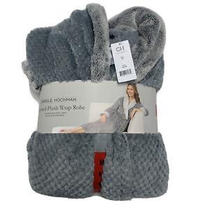 Carole Hochman Women's Textured Plush Wrap Robe Super Soft Long Vary Sizes Color