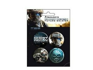 Ghost-recon-future-soldier-Blister-de-4-Badges-Officiels-Ghost-recon-badge-pack