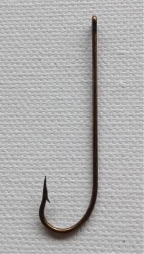 300 x  Bulk wholesale lot Long shank fishing hooks bronzed  size 1