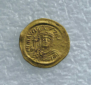Maurice Tiberius Gold Solidus Coin Byzantine Constantinople Xf Byzantine (300-1400 Ad) 582-602 Ad Coins: Ancient