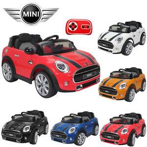 Mini Cooper Licensed 12v Kids Ride On Car Twin Motor Remote Control Cars Ebay