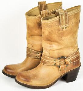 Frye-Carmen-Harnessed-Short-Boots-Sand-Tan-Beige-77375-8B-Size-8-Cowgirl-Boho