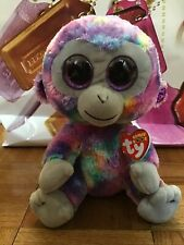 "Zuri Monkey Ty Beanie Boos Plush 7/"" NWT"