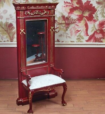 "Mahogany Column MUSEUM QUALITY DOLLHOUSE FURNITURE 1:12 or 1/"" Scale BESPAQ"
