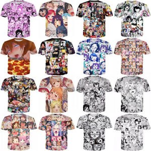 Women-Men-Ahegao-Anime-Funny-Girl-Sexy-3D-Print-Casual-T-Shirt-Tee-Short-Sleeve