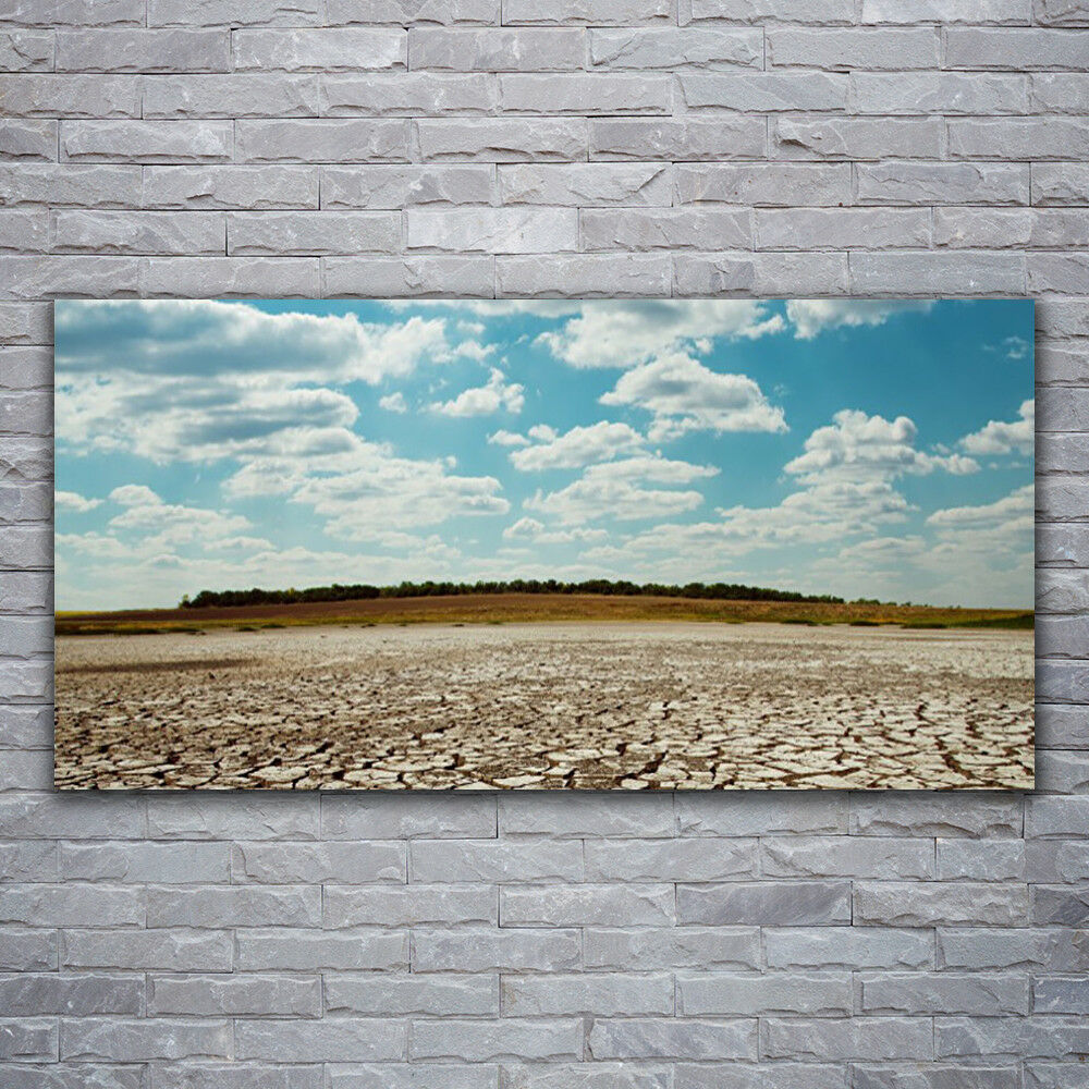 Peintures Murales Photos de pression sur verre 120x60 Désert Paysage