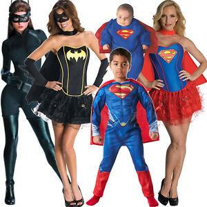 Superhelden-Superman-Supergirl-Batgirl-Catwoman-Kostuem-Verkleidung-Damen-Jungen
