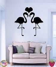 Wall Stickers Vinyl Birds Flamingo Heart Romantic Decor For Bedroom (z1692)