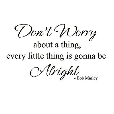 Bob Marley Wall Sticker Inspirational Quote Vinyl Home Room Removable Art Decor