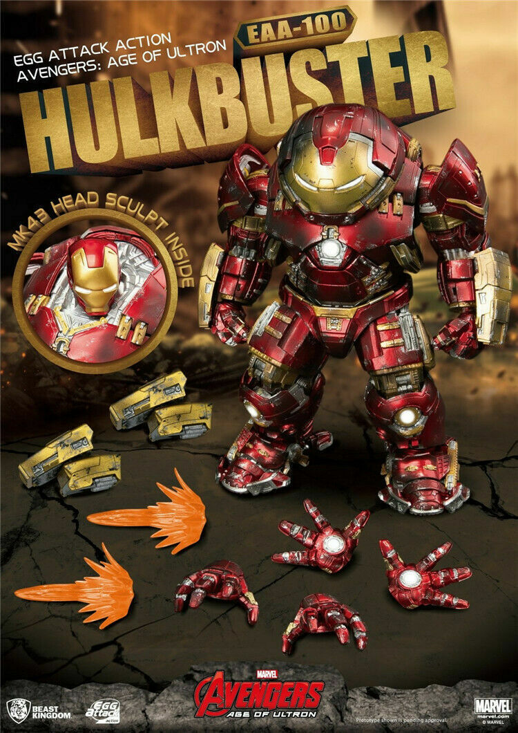BEAST KINGDOM EAA-100 AVENGERS AGE OF ULTRON HULKBUSTER MARK 44 ACTION FIGURE