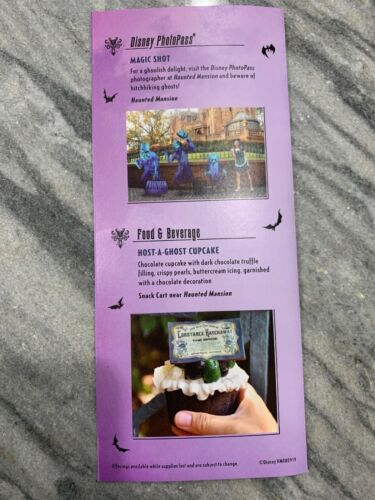 Celebrate The 50th Anniversary The Haunted Mansion Exclusive Print Map Brochure