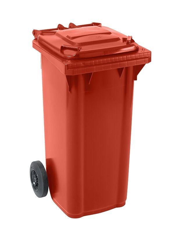Großmülltonne Mülltonne Abfalltonne Abfallbehälter GMT 140 Liter rot