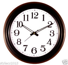 """Choc BLACK RED 17"""" inches Wall Clock BIG Numbers for Halls Home & Office -WC507"""