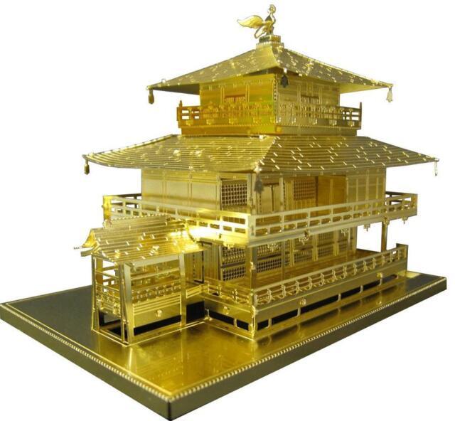 Tenyo Metallic Nano Puzzle TMG-03 Gold Series Kinkaku-ji Temple