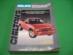 82 94 Chilton S Chevy S10 Gmc S15 Pick Up Repair Manual Ebay