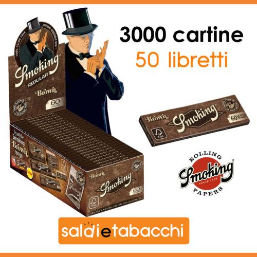 3000 cartine Smoking Brown corte 50 libretti da 60 foglietti
