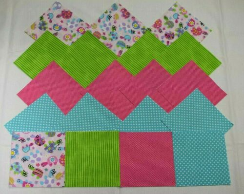PRETTY TURTLES ALL DRESSED FOR SPRING CHARM PACK 5 Inch Quilt Squares 40