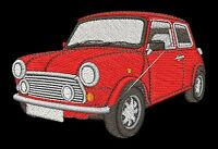Classic Mini Cooper Embroidered & Personalised Polo Shirt