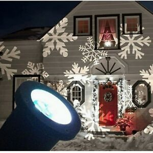 Image Is Loading Uk Moving Outdoor Led Snowflake Laser Light Projector
