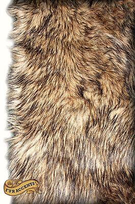 Shag Animal Fur Throw Rug Faux Fur