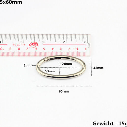 Ovaler Karabinerhaken aus Aluminium mit ovalem Karabinerhaken 31mm-60mm 5-500 x