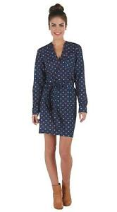Mud-Pie-Womens-Gia-Tunic-Shirt-Dress-Long-Sleeves-Navy-Blue-Sm-Med-Lg-8503134N
