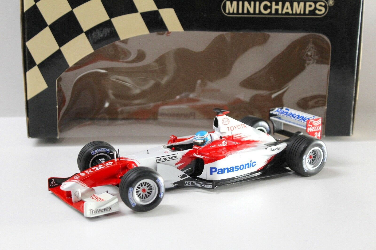 1 18 Minichamps PANASONIC TOYOTA RACING tf102 M. SALO NEW in Premium-MODELCARS