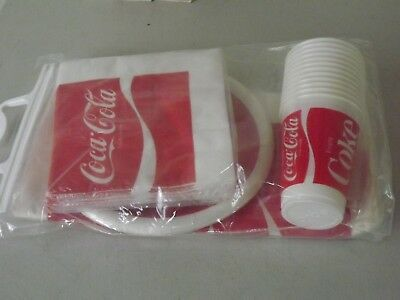 COCA COLA PICNIC PACK VTG PARTY DISPOSABLE TABLEWARE PP900 Coke Collectible NOS