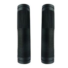Black Closed End Mushroom Grips With Flange EndZone BMX Grips 125mm Long